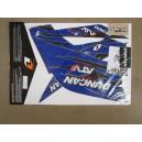 Kit déco ONE DUNCAN RACING bleu Raptor 250