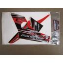 Kit déco ONE Industrie DUNCAN RACING rouge et noir  TRX400EX