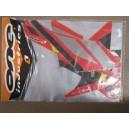 Kit déco ONE Industrie rouge , gris , noir , jaune TRX400EX