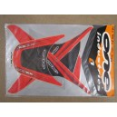 Kit déco ONE Industrie noir et rouge TRX400EX