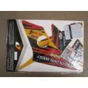 Kit déco ONE Industrie DUNCAN rouge , noir , orange TRX400EX