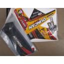 Kit déco ONE Industrie DUNCAN RACING rouge , noir, orange  TRX400EX